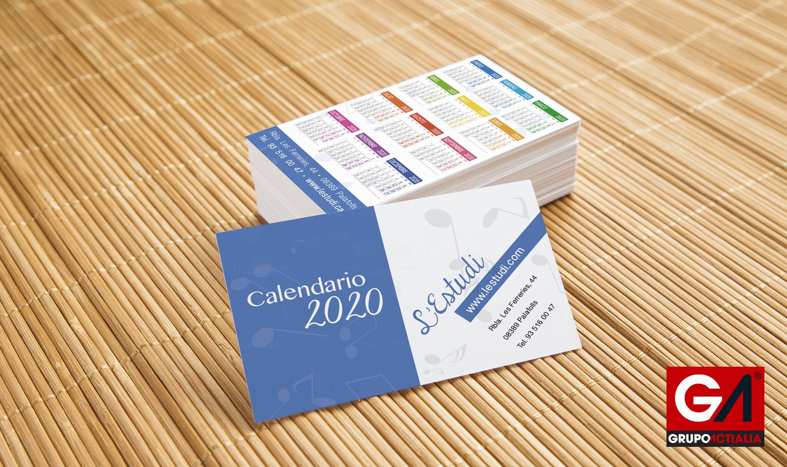 27€ - Calendarios de Bolsillo Estándar · Impresión - Imprenta